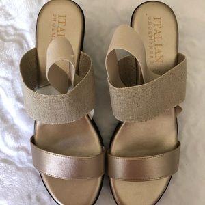 Shoes - Gold/Tan Sandals